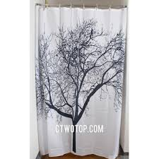 White Patterned Curtains Black And White Tree Patterned Simple Unique Cheap Shower Curtains