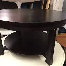 Round Dark Wood Coffee Table - des 21 ship set u2013 art dogs props