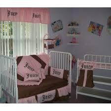 Pink Brown Crib Bedding Couture Pink Brown Crib Bedding Set