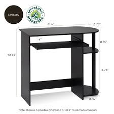 amazon com furinno 14098r1ex bk easy assembly computer desk
