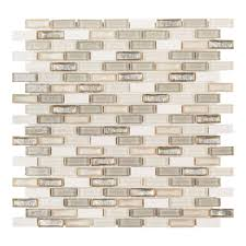 Home Depot Stone Tile Backsplash by Jeffrey Court Afternoon Tea 11 5 In X 12 25 In X 6 Mm Glass