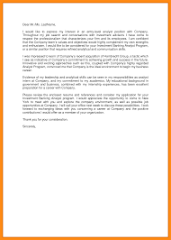 9 sample investment banking cover letter dtn info