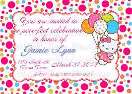 hello kitty birthday invitations invitations templates