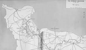Normandy Invasion Map Utah Beach To Cherbourg