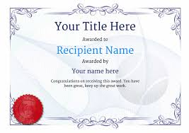 free tennis certificate templates add printable badges u0026 medals