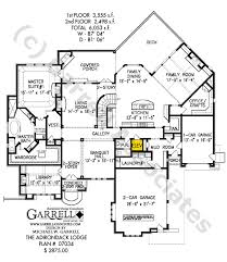mountain lodge floor plans adirondack lodge house plan house plans by garrell associates inc