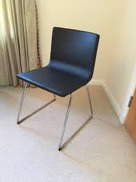 Leather Dining Chair With Chrome Legs Eight Brand New Modern Dark Leather Dining Chairs With Chrome Legs