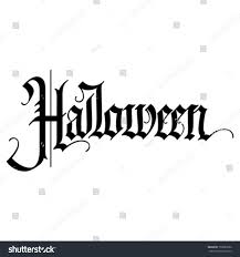 halloween gothic calligraphic hand lettering stock vector