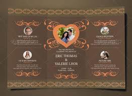tri fold wedding invitation template tri fold wedding invitations template paperinvite