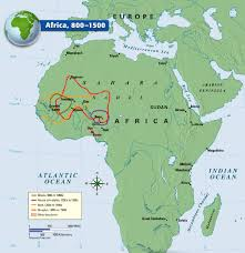 Africa On The Map by A Map Showing African Kingdom From 800 1500 Ce The Spread Of
