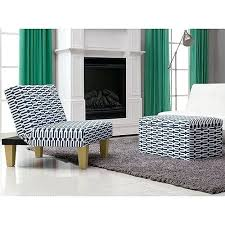 blue and white ottoman accent chair and ottoman aria accent chair and storage ottoman blue