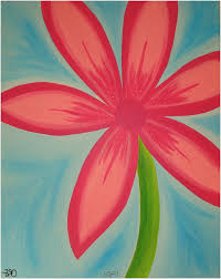 home decor simple flower painting teen room decor pottery