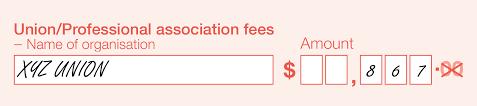 section b payment details australian taxation office