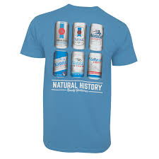 Natural Light Men S Blue Natural History T Shirt