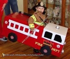 Truck Halloween Costume Coolest Homemade Fireman Fire Truck Halloween Costume