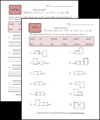 spelling worksheets for words with oi and oy pattern all kids