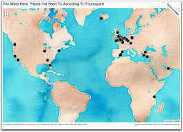 Map The World by You Were Here Mapping The Places I U0027ve Been To According To
