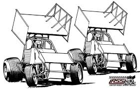 elegant stunning sprint car coloring pages pertaining