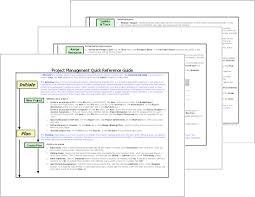 project management quick reference guide office templates
