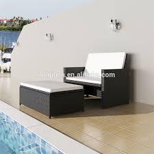 canap en rotin convertible terrasse petit espace extérieur utilisé convertible inclinable