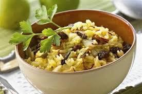cuisiner du riz blanc riz au safran aux amandes et aux raisins secs inde
