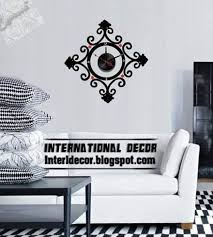 modern wall decals for living room wall decal clock shapes for living room