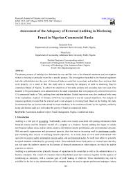 assessment of the adequacy of external auditing in disclosing fraud i u2026