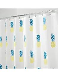 Yellow And Navy Shower Curtain Shower Curtains Amazon Com