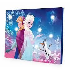 disney frozen light up canvas wall with bonus led lights