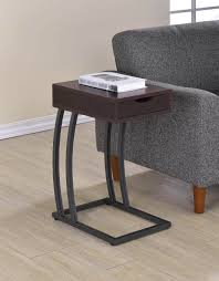end table with usb port cappuccino accent table with power strip usb ports 900578 savvy