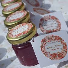 jam wedding favors personalised mini jam wedding favours jar wedding favours