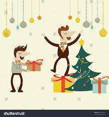 office christmas partyvector cartoon design stock vector 224498314