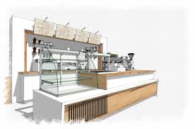 coffee bar sketchup interior design concept rendering