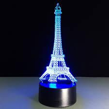 Neon Desk Lamp Aliexpress Com Buy Eiffel 3d Night Light Desk Lamp Bedside