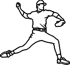 baseball pitcher playing baseball coloring page wecoloringpage