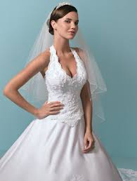 wedding dresses manchester satin a line embroidered lace beading halter castillion