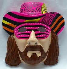 wwf macho man randy savage vintage halloween mask rubies 1991 wwe