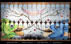 Surf Mural by Patrick Maxcy Surf Expo Mural