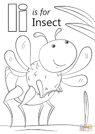 letter insect coloring free printable coloring pages