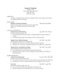 sle resume objective student resume sle student resume clinical experience