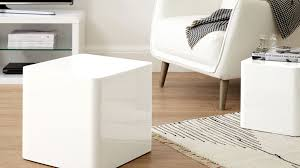 white gloss side table contemporary dice side tables white high gloss nesting