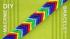 make rainbow bracelet images How to make a chevron arrows rainbow friendship bracelet jpg