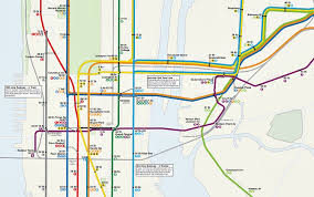 dream subway map includes a 10th avenue subway and a path to