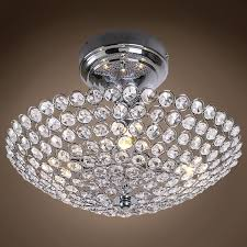 Crystal Flush Mount Lighting Joshua Marshal Limited Edition 4 Light 12