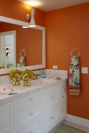 orange bathroom ideas bathroom category using black and white bathroom for interior