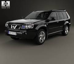 white nissan 2004 nissan x trail 2004 3d model hum3d