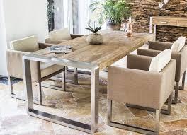 Esszimmertisch Industriedesign Echtholz Tisch Enorm Eiche Echtholztisch Mit Stahlgestell Im