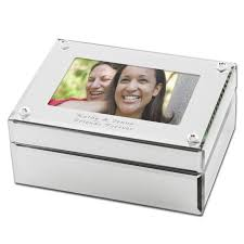 personalized box mirrored glass photo jewelry box