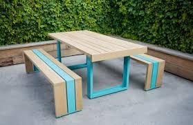 White Patio Furniture Sets Modern Minimalist Patio Furniture Design Sr White Oak Table Set