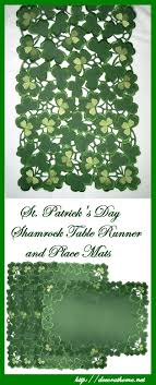 st patrick s day table runner kitchen towels and table runners for st patrick s day